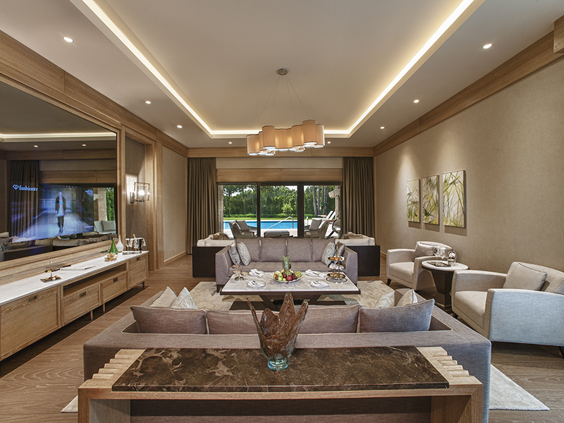Carya Golf Villa-Living Room