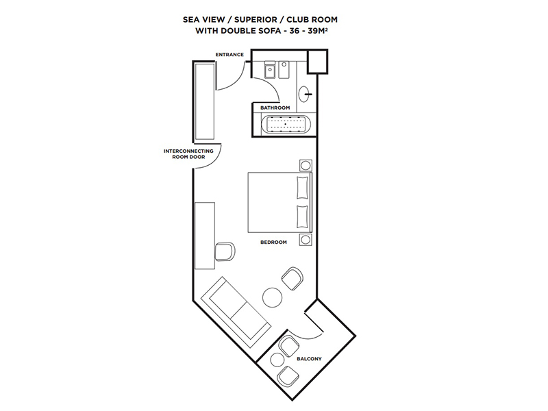 Club Sea View Rooms-plan