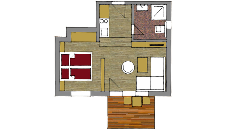 Deluxe Double Apartment5