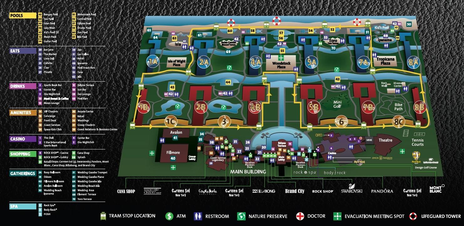 Hard Rock Hotel Punta Cana Resort Map