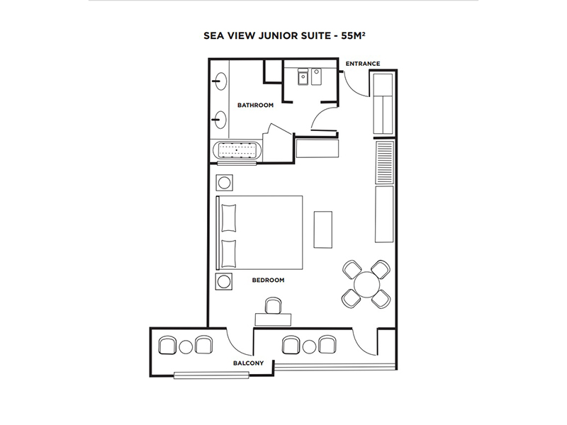 Sea View Junior Suite-plan
