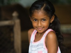 Portrait of a 7 year old Jamaican girl
