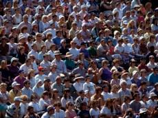 Tennis Spectators at Wimbledon