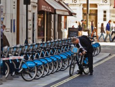 Barclays Cycle Hire off Regent Street