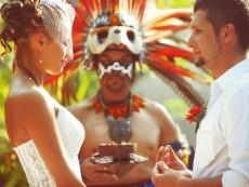 индейская свадебная церемония в Мексике в Темаскаль-1