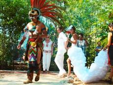 индейская свадебная церемония в Мексике в Темаскаль-2