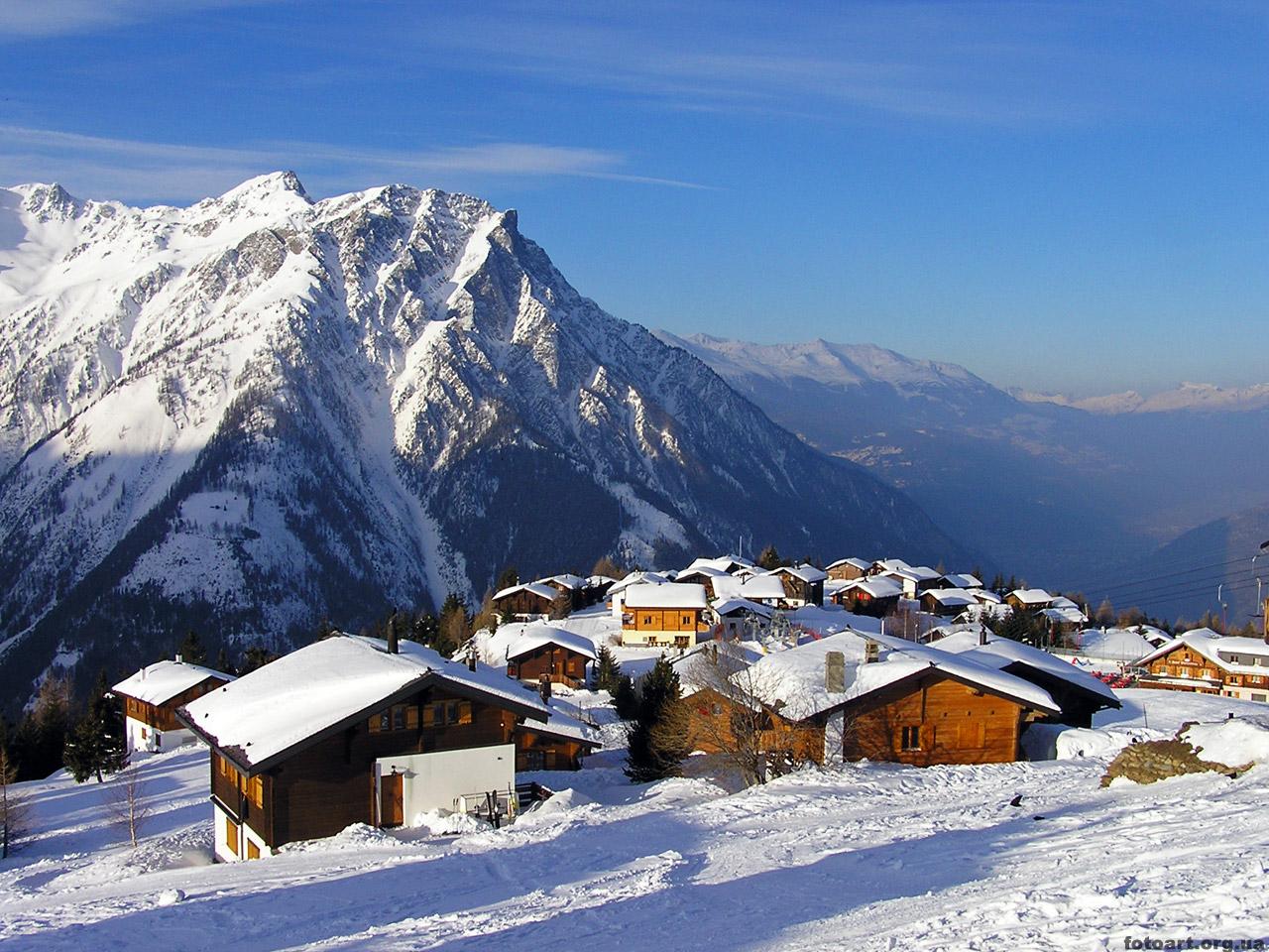 Фото альпы зимой 8