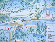 Карта-схема отелей и трасс Славска