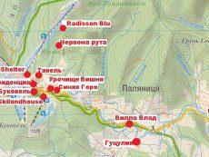 Карта-схема отелей в Буковеле