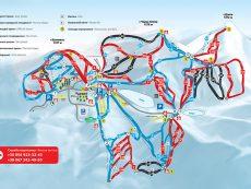 Карта-схема трасс Буковеля
