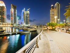 Port and Skyscrapers of Dubai Marina