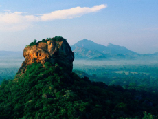 Sri Lanka, Sigiriya Lion Rock Fortress at dawn