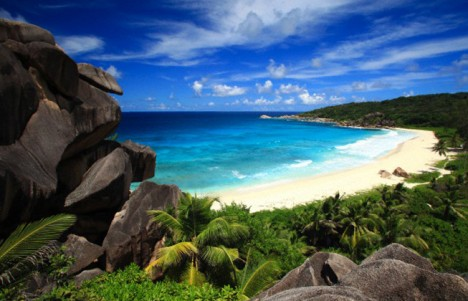 Grand Anse beach, La Digue Island, Seychelles