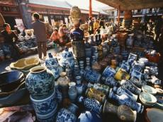 Various Ceramics at Antique Shop