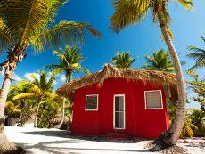 Catalina Island, La Romana, Dominican Republic. A typical bungal