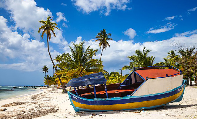 Dominican Republic, Punta Cana, Parque Nacional del Este, Saona Island, Mano Juan, a picturesque fishing village