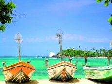 Fishing Boats on Sri Lanka Beach