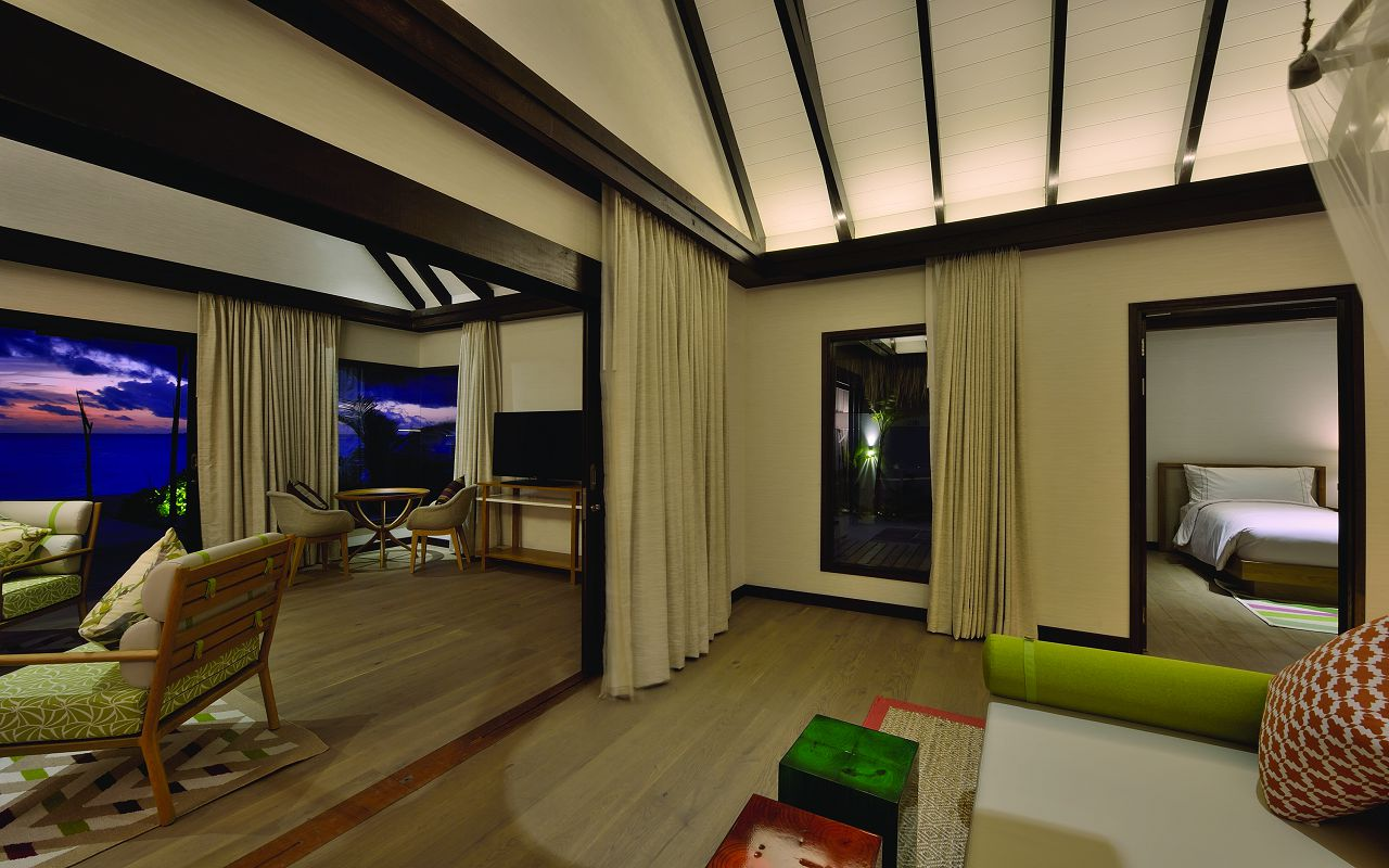 EARTH FAMILY POOL SUITE - INTERIOR - OZEN BY ATMOSPHERE AT MAADHOO MALDIVES