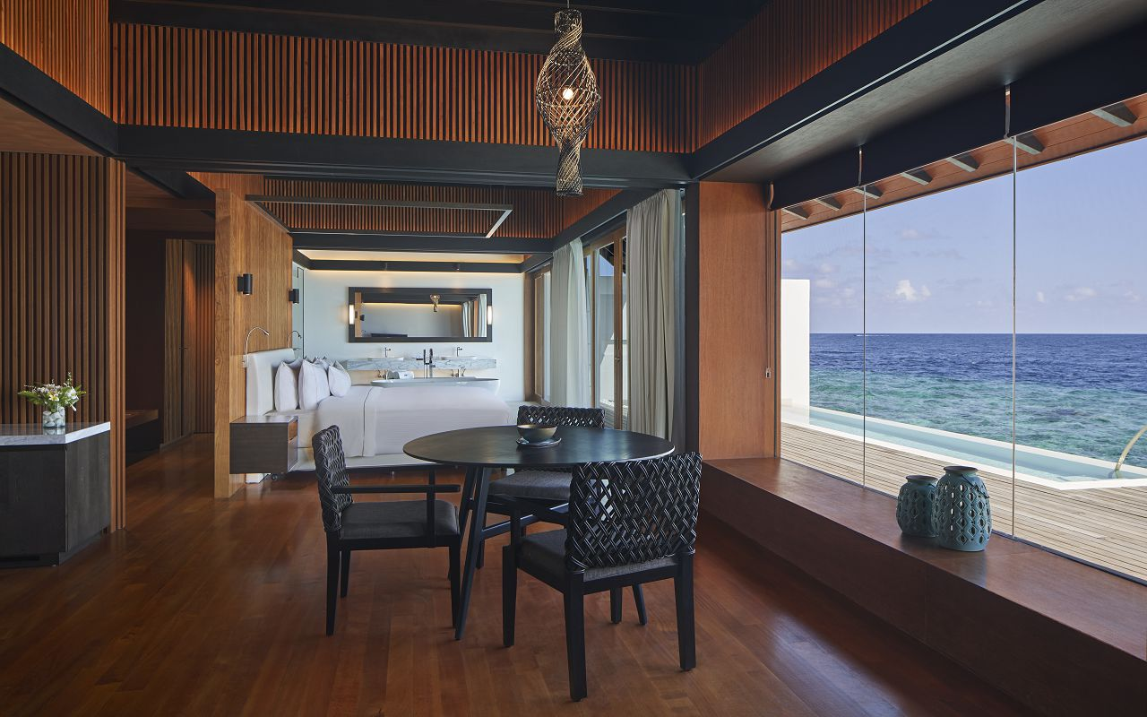 The Westin Maldives Overwater Suite Pool Interior