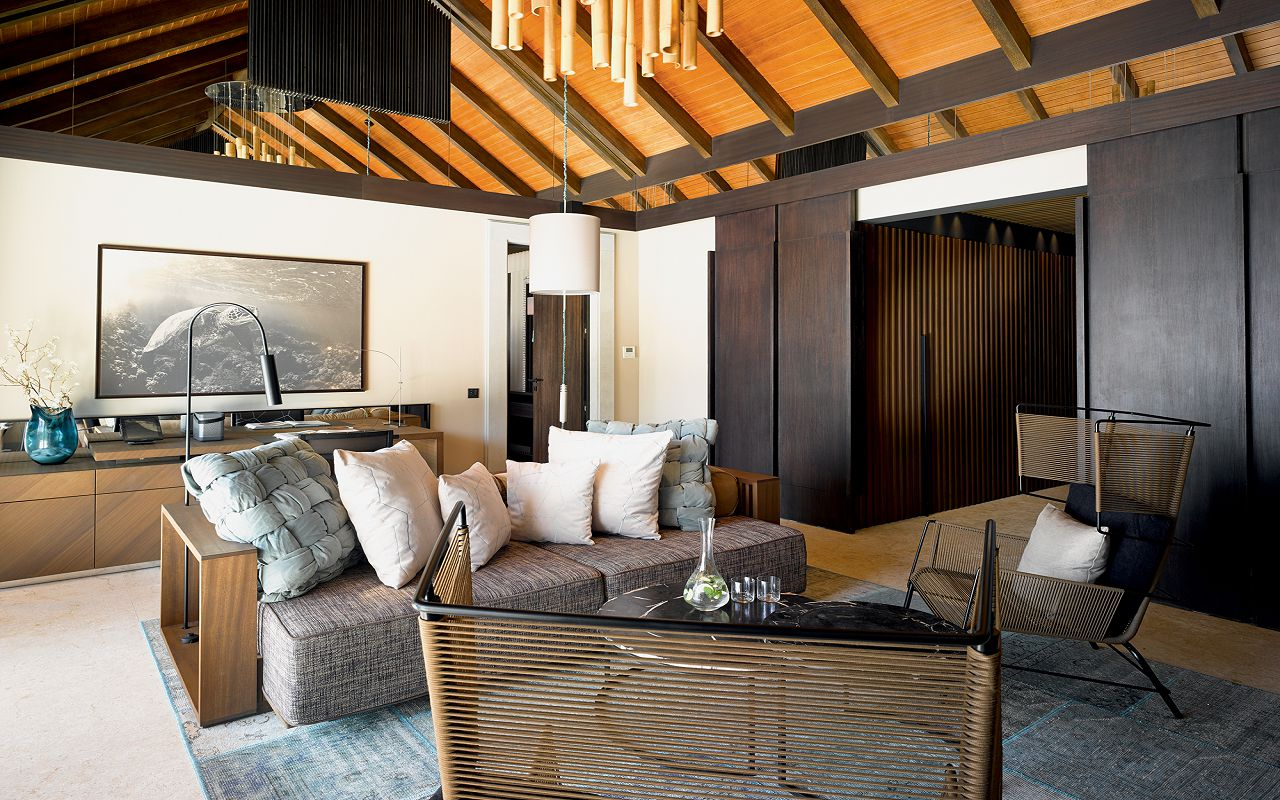 28 - Beach Pool House - Living Room
