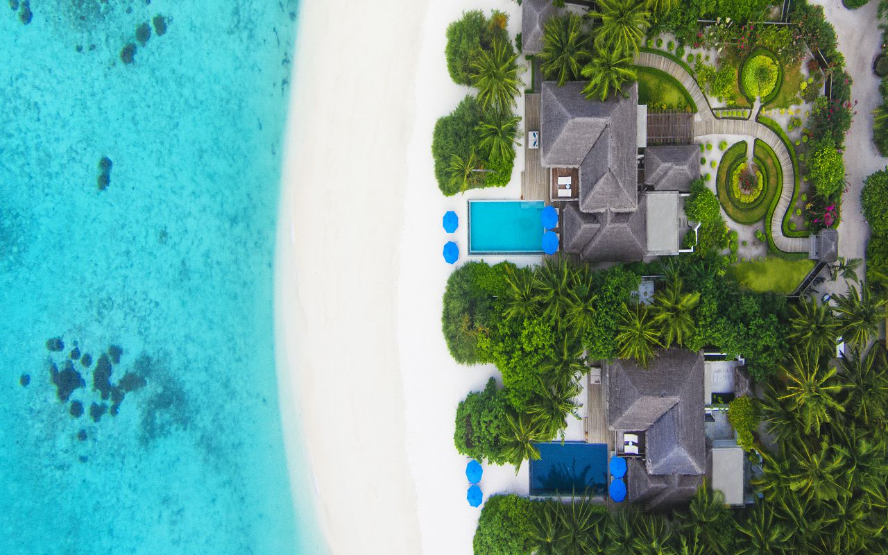 2BR Beach Residence with Pool - Aerial