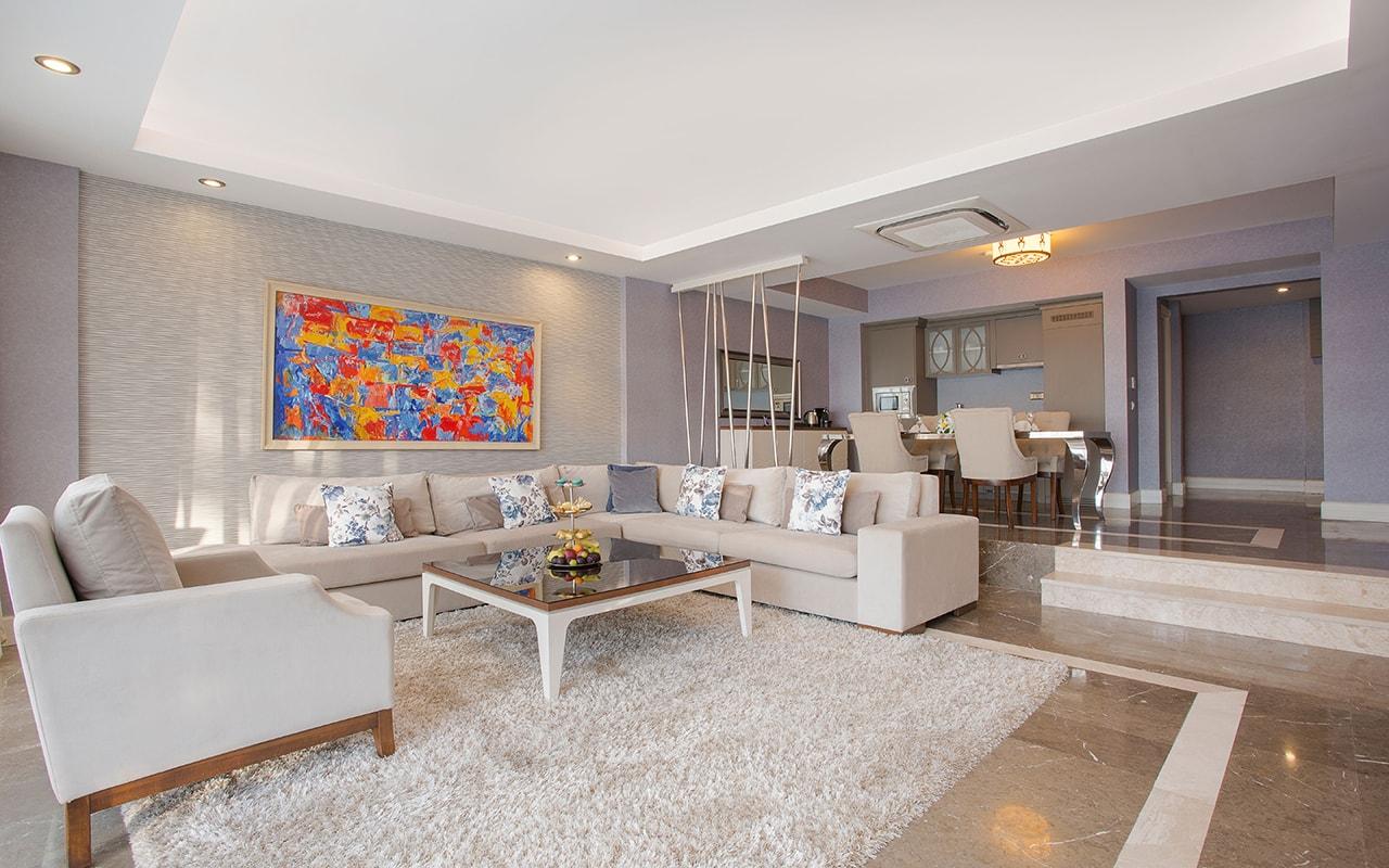 Aphrodite villa living room 1-min