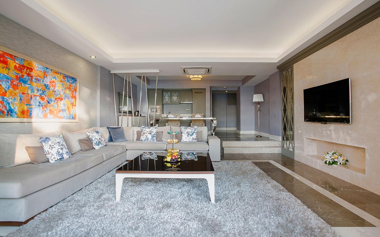 Aphrodite villa living room-min