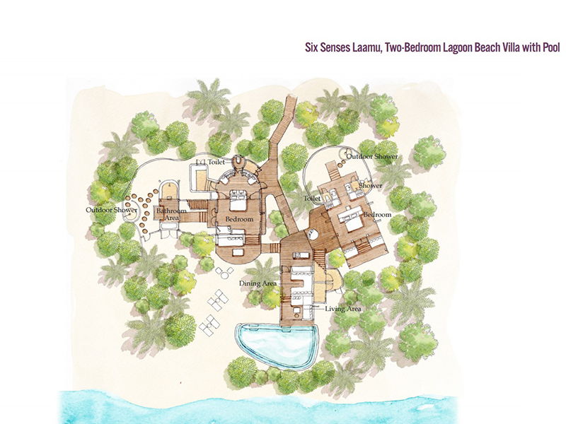 Beach Villa 2 Bedrooms with Pool-plan