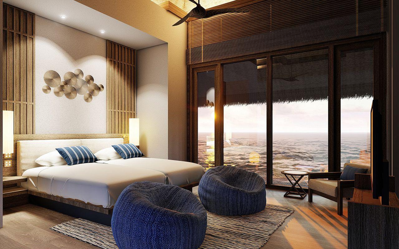 CM_ 2_Bedroom Grand Water Villa_twin bedroom_LR