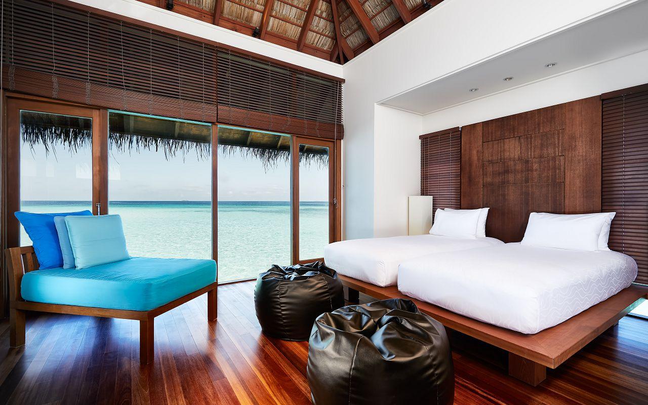 CONRAD MALDIVES 2-Bedroom Grand Water Villa_Bedroom_credit Justin Nicholas - hi-res