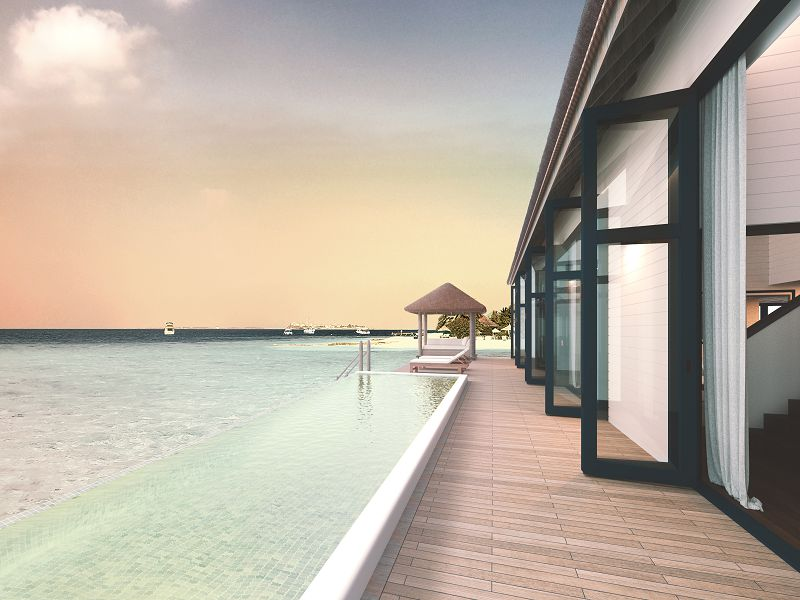 Cocoa Water Villa with Pool - Deck