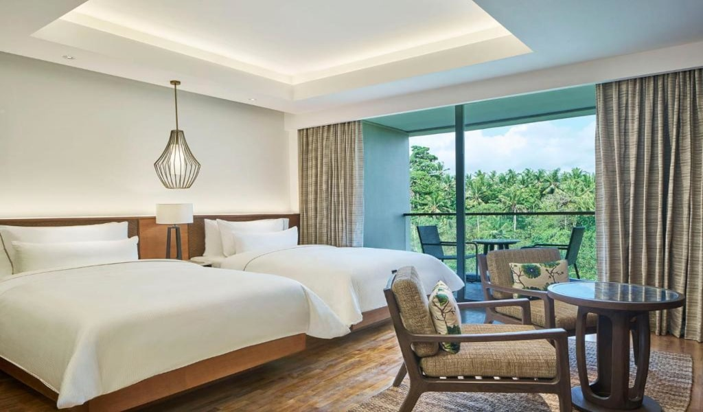 Deluxe, Guest room, 2 TwinSingle Bed(s), Pool view, Balcony -min
