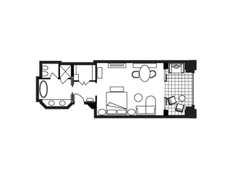 Deluxe Partial Sea-View Room-plan