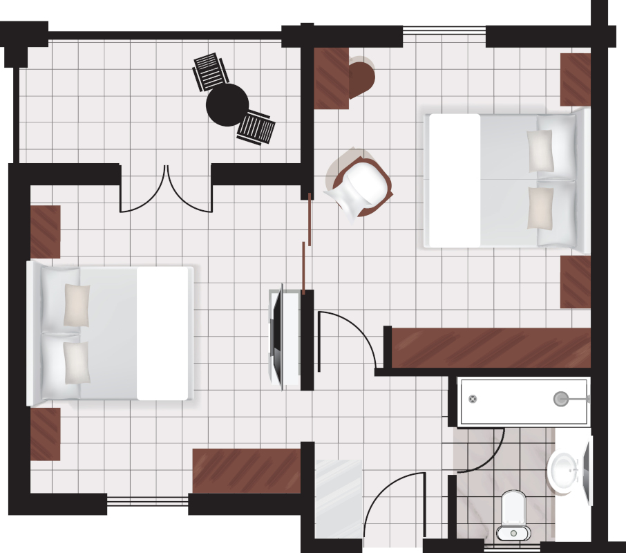 FAMILY_APT_GARDEN_VIEW56sqm_beds