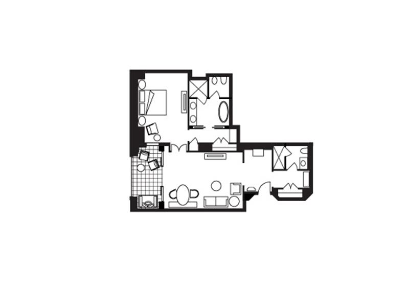 Four Seasons Junior Suite-plan