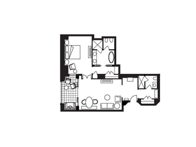 Four Seasons Sea-View Suite-plan
