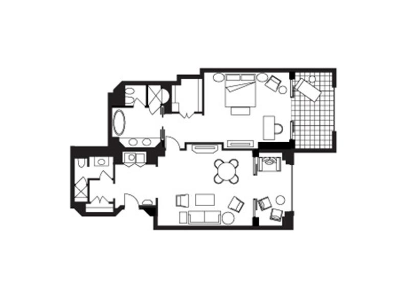 Jumeirah Sea-View Suite-plan