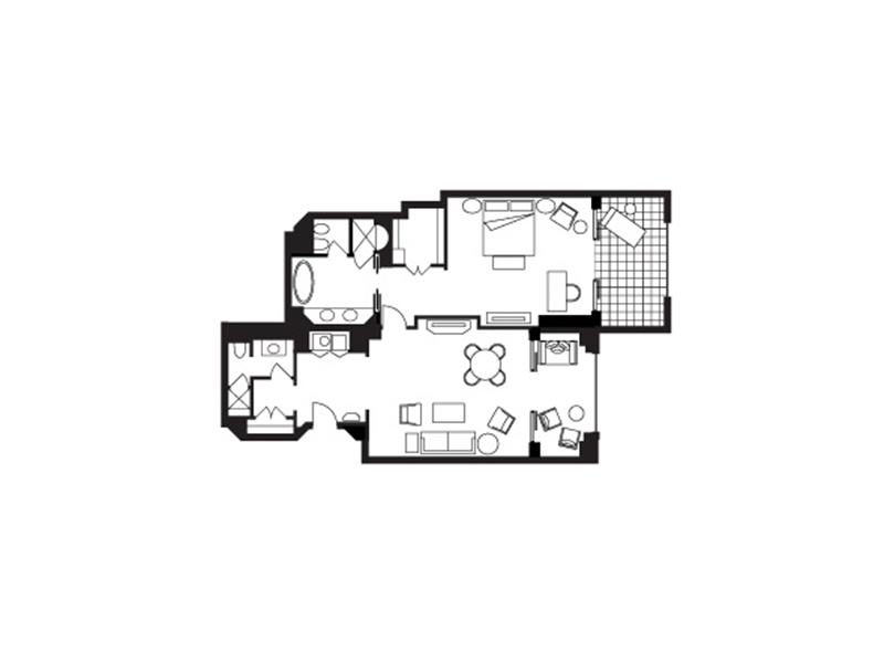 Jumeirah Skyline Suite-plan
