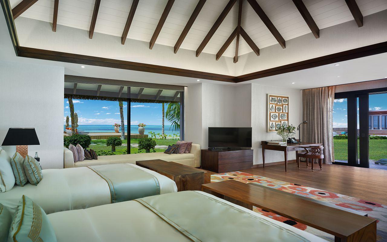 Jumeirah Vittaveli - Royal Residence - Guest Villa Twinbeds 01