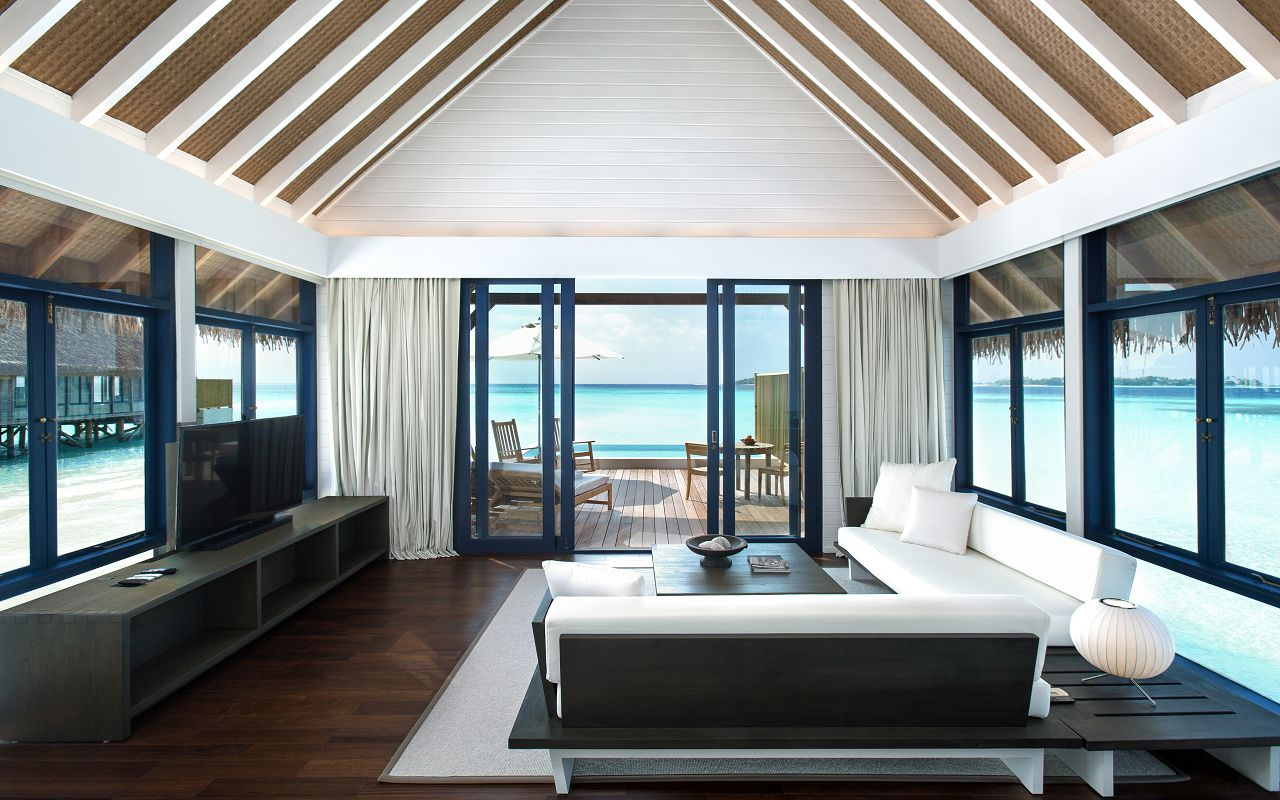 LS 20 One Bedroom Water Villa with Pool_Living Room_1