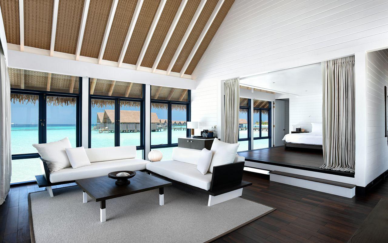 LS 20 One Bedroom Water Villa with Pool_Living Room_2