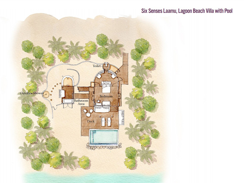 Lagoon Beach Villa with Pool-plan