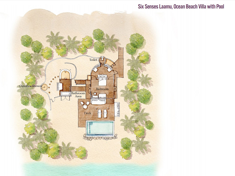Ocean Beach Villa with Pool-plan