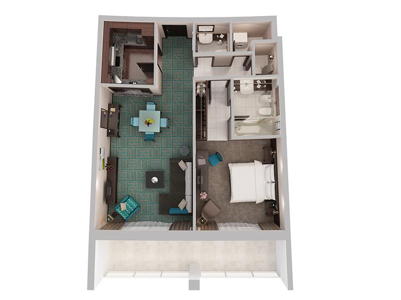 One Bedroom Apartment Creek Side10