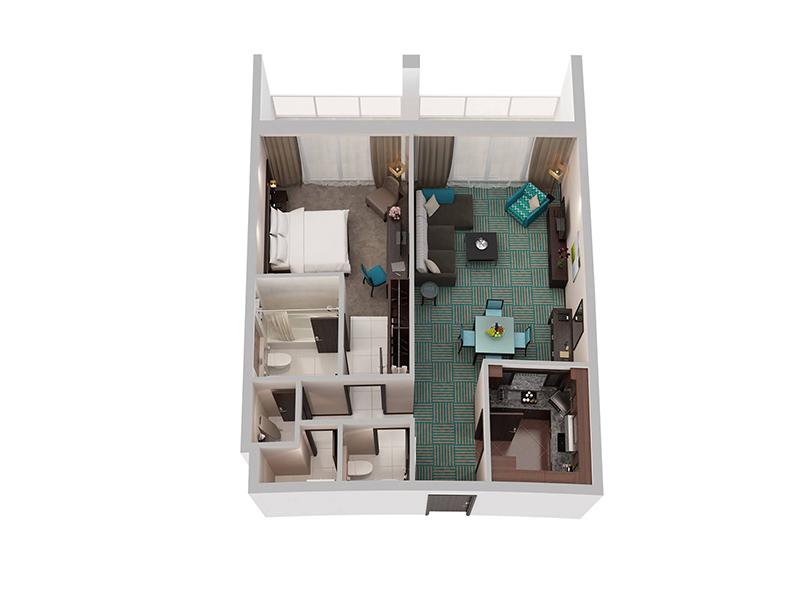 One Bedroom Apartment Creek Side8