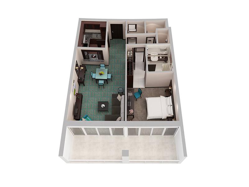 One Bedroom Apartment Creek Side9