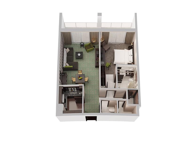 One Bedroom Apartment15
