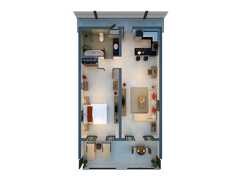 One Bedroom Superior Suite-plan