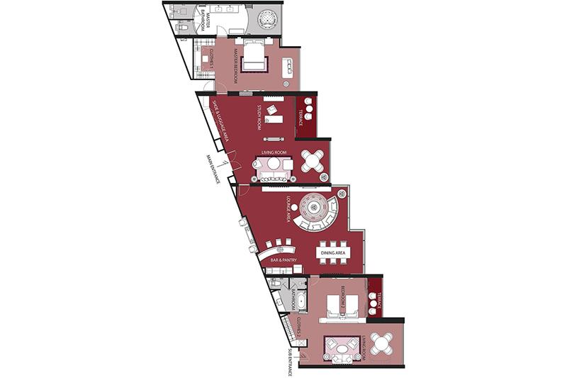 Presidential Platinum Suite (2 Bedrooms)-plan