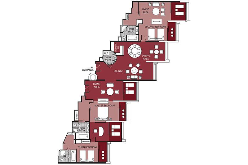 Presidential Suite (3 Bedrooms)-plan